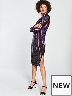 river-island-river-island-premium-sequin-midi-dress-purple