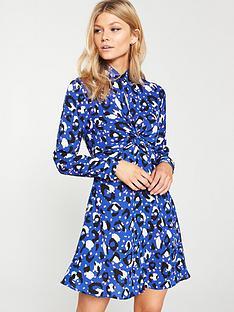 v-by-very-petite-coloured-animal-choker-dress-print