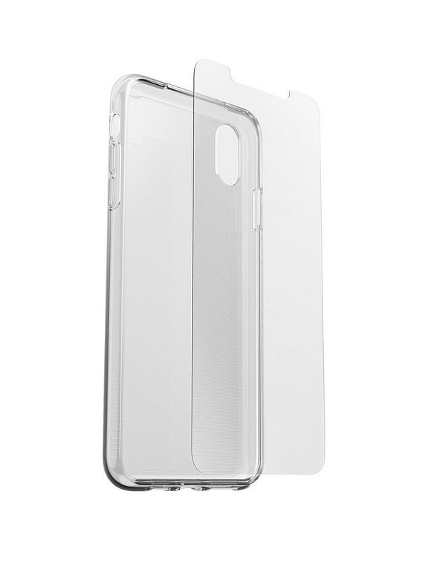 new arrival 0f3b3 01506 iPhone XS MAX CLEARLY PROTECTED SKIN CLR + ALPHA GLASS