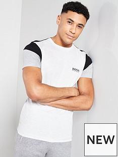 5d8fbe7b5 BOSS Athleisure Colour Block Tech T-Shirt - Grey