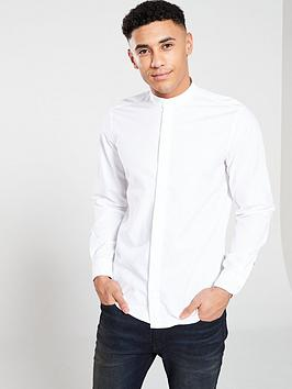 boss-casual-grandad-collar-shirt-white