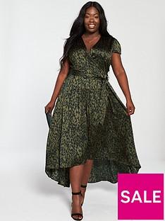 ax-paris-curve-dip-hem-maxi-dress-green
