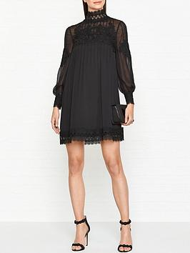 ted-baker-anneah-high-neck-lace-long-sleeve-tunic-black