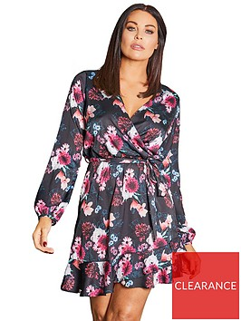 sistaglam-loves-jessica-sistaglam-loves-jessica-wright-mixed-print-floral-wrap-dress