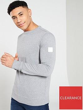 boss-casual-crew-neck-sweatshirt-grey