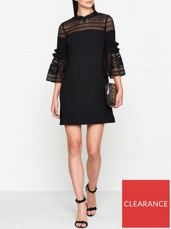 8587305bb Ted Baker Lucila Lace Panel Bell Sleeve Tunic Dress - Black