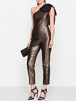 ted-baker-pallera-sparkle-bow-shoulder-jumpsuit-brown