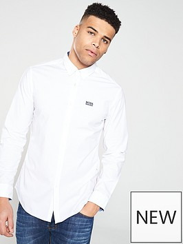 boss-long-sleeve-shirt-white