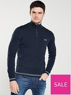 boss-athleisure-half-zip-jumper-navy