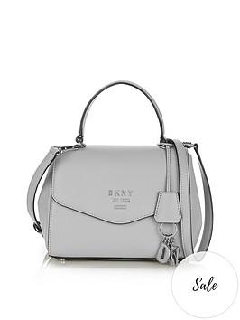 dkny-paige-small-pebble-top-handle-satchel-bag-grey