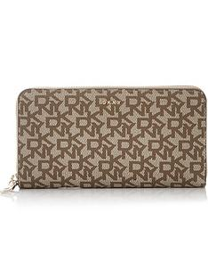 dkny-bryant-large-zip-around-logo-wallet-tan