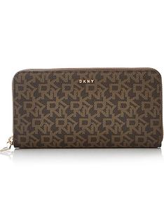 dkny-bryant-large-zip-around-logo-wallet-brown