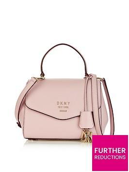 dkny-paige-small-pebble-top-handle-satchel-bag-pink