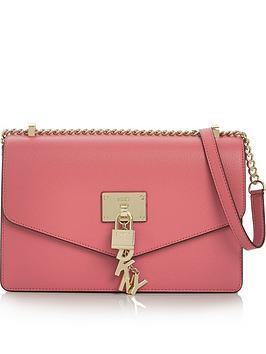 dkny-elissa-large-shoulder-flap-bag-pink