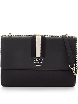 dkny-liza-medium-shoulder-flap-cross-body-bagnbsp--black
