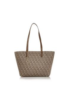 898050ddb2d6 DKNY Bryant Medium All Over Park Logo Tote Bag - Tan