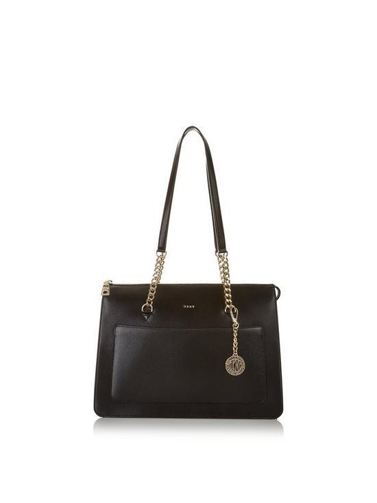 DKNY Bryant Park Sutton Large Tote Bag - Black Gold  31cde02ab4227