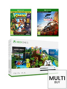 xbox-one-s-minecraftnbsp1tb-console-bundle-with-crash-bandicoot-nsane-trilogynbspand-forza-horizon-4