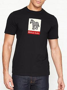 3cb2157148a7b PS PAUL SMITH Zebra Print T-shirt - Black
