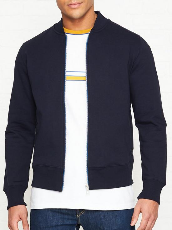 e80ad607ff8df1 PS PAUL SMITH Sweat Bomber Jacket - Navy | very.co.uk