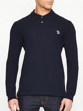 ps-paul-smith-zebra-logo-long-sleeve-pique-polo-shirt-navy