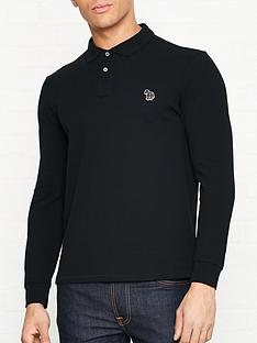ps-paul-smith-zebra-logo-long-sleeve-pique-polo-shirt-black