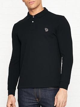 ps-paul-smith-zebra-logo-long-sleeve-pique-polo-shirt-black