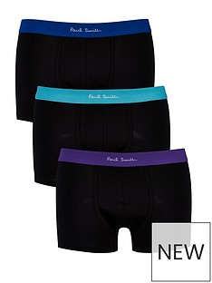 ps-paul-smith-mens-3-pack-colour-waistband-boxer-shortsnbsp--black