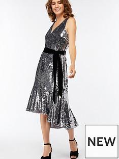 aebba0e4930 Monsoon Aubrey Sequin Midi Dress
