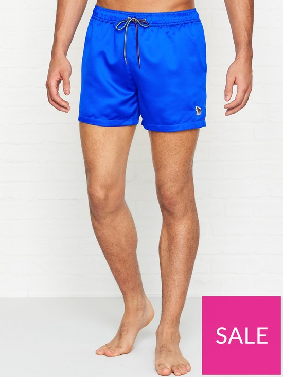 f338b54a72 PS PAUL SMITH Zebra Logo Swim Shorts - Blue | very.co.uk