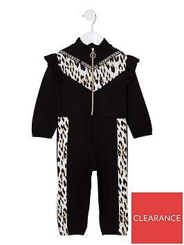 river-island-mini-girls-animal-print-popper-jumpsuit-black