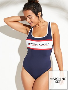 3f0ac49f591d48 Tommy Hilfiger Tommy Hilfiger Tommy Sport Cheeky One Piece