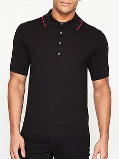 ps-paul-smith-knitted-tipped-collar-polo-shirtnbsp--black