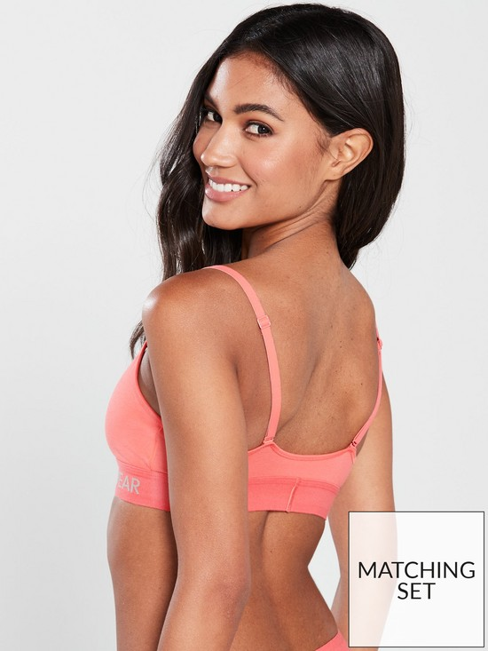 751395ba34 ... Calvin Klein Monogram Unlined Triangle Bra - Coral. 2 people have  looked at this in the last couple of hrs.