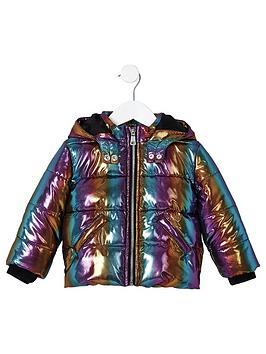 river-island-mini-girls-rainbow-hooded-padded-jacket--nbspmulti-coloured
