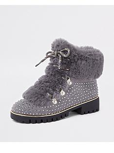 river-island-girls-embellished-faux-fur-lined-boots-grey