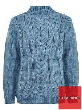 river-island-boys-turtle-neck-cable-knit-jumper-blue