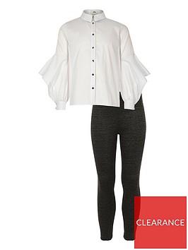 river-island-girls-button-shirt-and-leggings-set-white