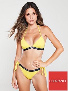 tommy-hilfiger-core-solid-logo-triangle-bikini-top-yellow