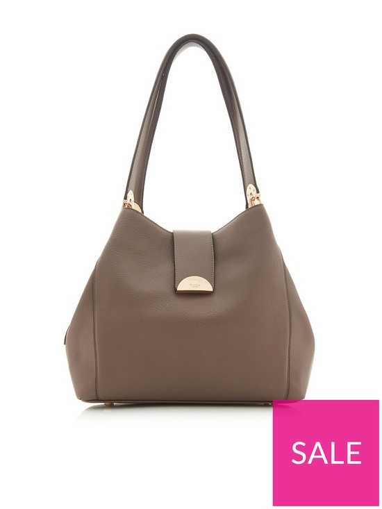 a5ebea83982 Dune London Demi Medium Day Lock Slouch Bag - Grey | very.co.uk