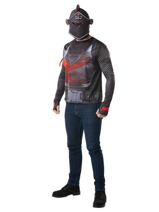20a732e930 Fortnite Tween Black Knight Top & Snood | very.co.uk
