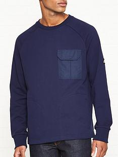 penfield-mansel-contrast-pocket-sweatshirt-navy