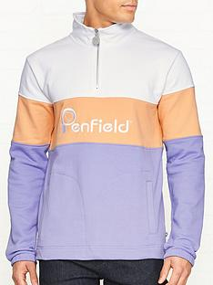 penfield-gravas-logo-half-zip-sweatshirt-purple