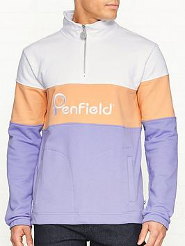 penfield-gravas-logo-half-zip-sweatshirt-purple