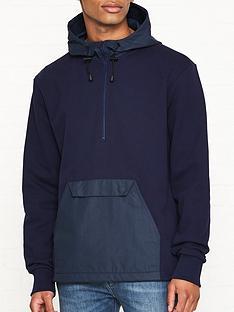 penfield-resolut-half-zip-overhead-hoodie-navy