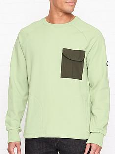 penfield-mansel-contrast-pocket-sweatshirt-green