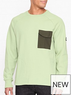 penfield-mansel-contrast-pocket-sweatshirt-green