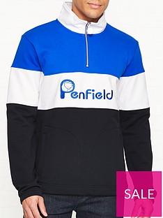 penfield-gravas-logo-half-zip-sweatshirt-black