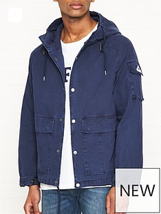 penfield-lenox-canvas-hooded-jacket-navy