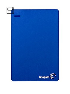 Seagate 4Tb Backup Plus Portable External Hard Drive for PC & Mac with Optional 2 Year Data Recovery Plan - Blue